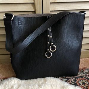 Calvin Klein studded leather bucket bag